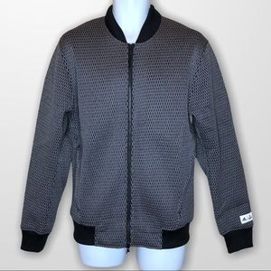 Adidas Mens Reigning Champ Bomber Jacket Mesh AARC